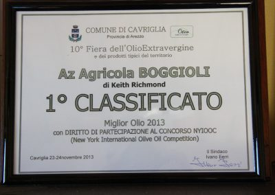 Boggioli Award Winning Olive Oil